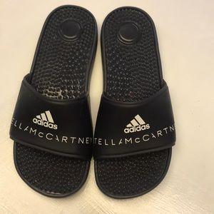 Adidas slides, Stella McCartney issue 6